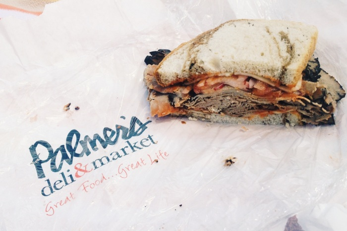 Half of the Cowboy Sandwich from Palmer's Deli & Market